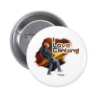 I Love Climbing Epic Pinback Buttons