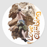 I Love Climbing Go Climb Classic Round Sticker