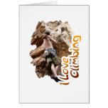 I Love Climbing Go Climb Greeting Card