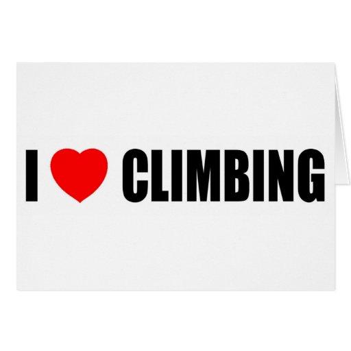 I Love Climbing Greeting Card