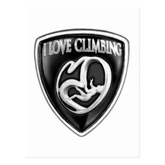 i love climbing postcard