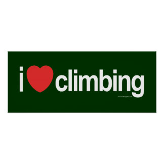 I Love Climbing Poster