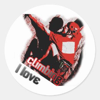 I Love Climbing Pulley Classic Round Sticker