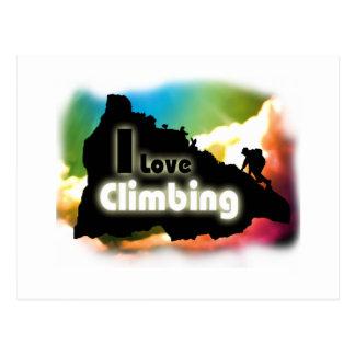 I Love Climbing Slack Postcard
