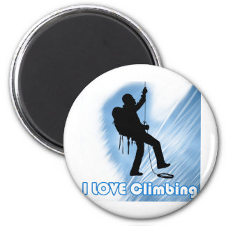 I Love Climbing Soupy 2 Inch Round Magnet