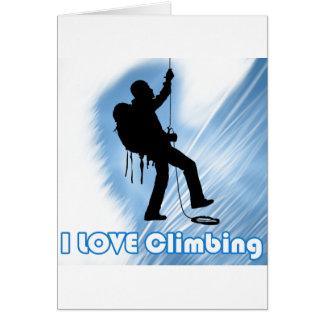 I Love Climbing Soupy Card