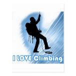 I Love Climbing Soupy Post Cards