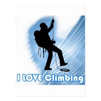 I Love Climbing Soupy Postcard