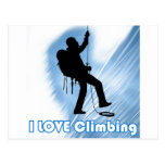 I Love Climbing Soupy Postcards