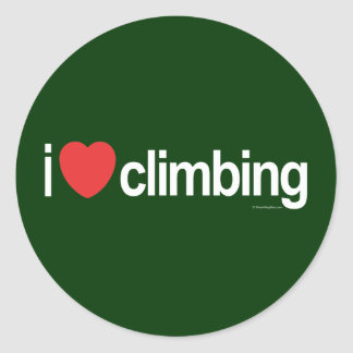 I Love Climbing Sticker