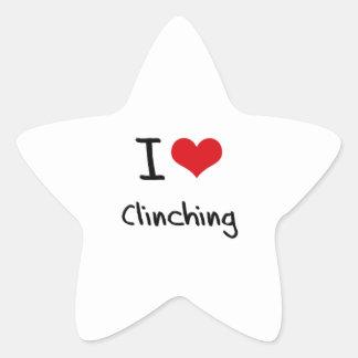 I love Clinching Star Sticker
