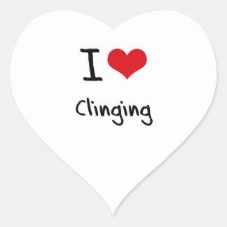I love Clinging Heart Sticker