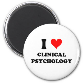 I Love Clinical Psychology 2 Inch Round Magnet