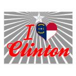 I Love Clinton, North Carolina Post Card