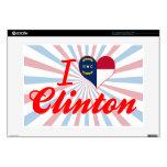 "I Love Clinton, North Carolina Skins For 15"" Laptops"