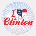 I Love Clinton, North Carolina Sticker