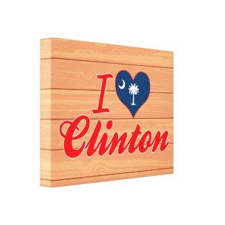 I Love Clinton, South Carolina Gallery Wrap Canvas