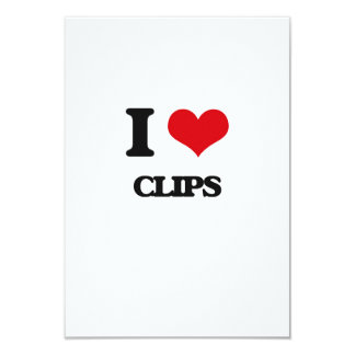 I love Clips 3.5x5 Paper Invitation Card