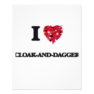"I love Cloak-And-Dagger 4.5"" X 5.6"" Flyer"