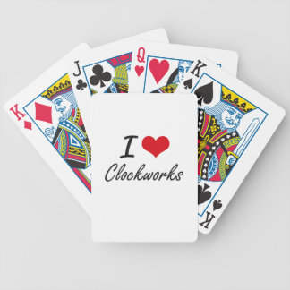 I love Clockworks Artistic Design Bicycle Playing Cards