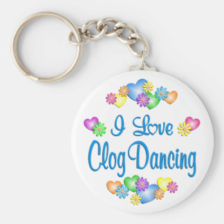 I Love Clog Dancing Keychain