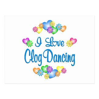 I Love Clog Dancing Postcard