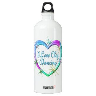 I Love Clog Dancing Water Bottle