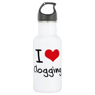 I love Clogging 18oz Water Bottle