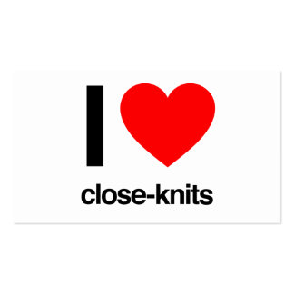 i love close-knits Double-Sided standard business cards (Pack of 100)