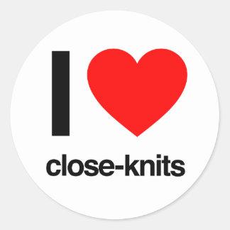 i love close-knits round stickers