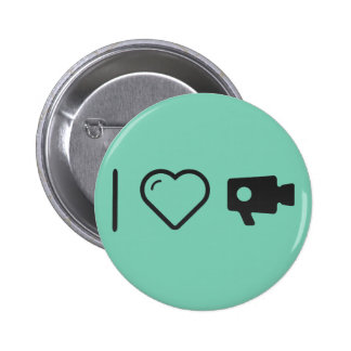 I Love Closed Circuit TVs Pinback Button