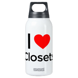 I Love Closets 10 Oz Insulated SIGG Thermos Water Bottle