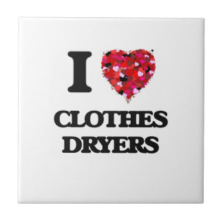 I love Clothes Dryers Small Square Tile