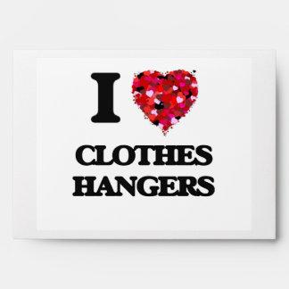 I love Clothes Hangers Envelope