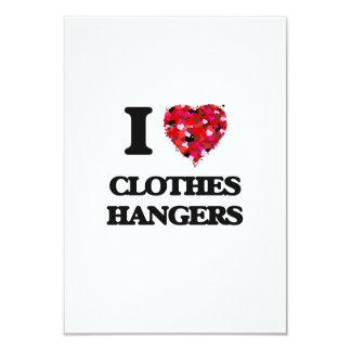 I love Clothes Hangers 3.5x5 Paper Invitation Card