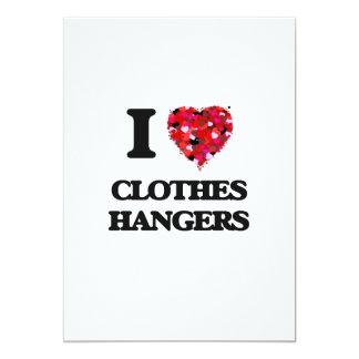 I love Clothes Hangers 5x7 Paper Invitation Card