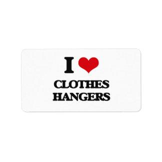 I love Clothes Hangers Address Label