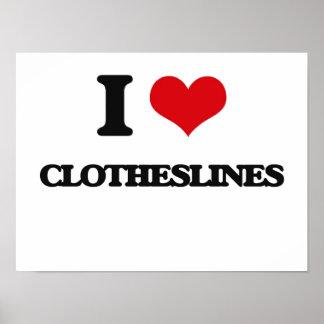 I love Clotheslines Print