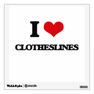 I love Clotheslines Wall Decals