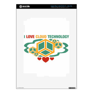 I Love Cloud Technology Decals For iPad 3
