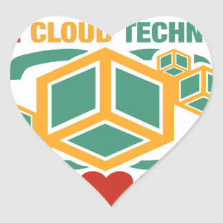 I Love Cloud Technology Heart Sticker