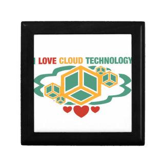 I Love Cloud Technology Keepsake Box