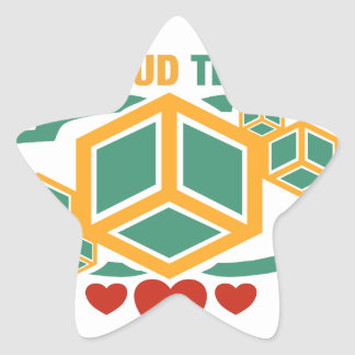 I Love Cloud Technology Star Sticker