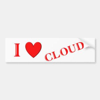 I Love Clouds Car Bumper Sticker