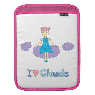 I Love Clouds iPad Sleeves