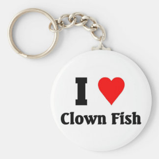I love Clown Fish Keychain