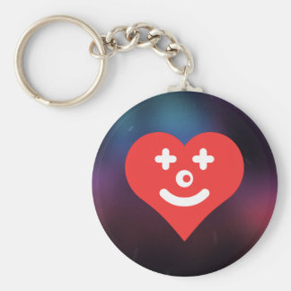 I Love Clown Makeup Basic Round Button Keychain