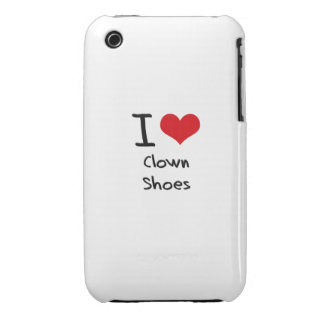 I love Clown Shoes iPhone 3 Case-Mate Cases