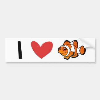 I Love Clownfish Bumper Sticker