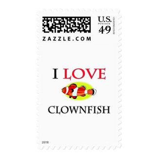 I Love Clownfish Stamp